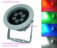 Frete grátis por DHL  6 pçs/set  CE  IP65  RGBW LEVOU holofotes  RGBW CONDUZIU a luz do projetor  DS 06 20 24W RGBW  6*4 w RGBW 4in1  24 v DC|Holofotes de LED|Luzes e Iluminação -