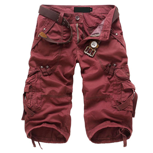 FS Hot Casual Армия Брюки-Карго мужская multi-карман Chic Брюки Тенденция капри красные 31 ярдов