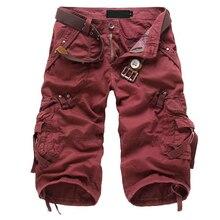 FS Hot Casual Militar Pantalones Cargo multibolsillos hombres Chic Tendencia Pantalones Capri pantalones rojo 31 yardas(China (Mainland))