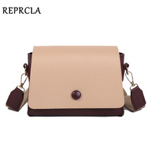 REPRCLA Fashion Designer Women Bag Wide Strap Crossbody Bags for Women PU Leather Shoulder Bags Ladies Handbag High Quality