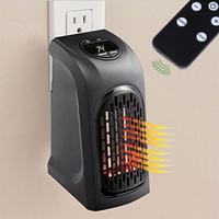 Mini 400W Heater Wall Outlet Air Heater For Home Electric Fan EU UK US Plug Timer