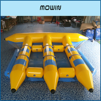 DEETONE Water Inflatable Rocket Gas Boat Large Water Playground Entertainment Equipment Inflatable Floating Boat