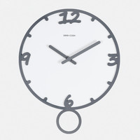 14 Inch large wall clock No Glass Clcoks 3d Chinese ink paint Style clock swing Time Silent Office Study Living Room Item Speci