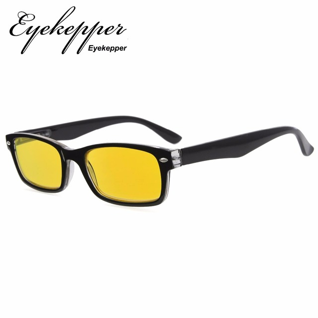 039e8c9b39 XCG055 Eyekepper Computer Glasses-UV Protection-Reduce Eyestrain with More  than 80% Blue Light Blocking Yellow Tint Lens