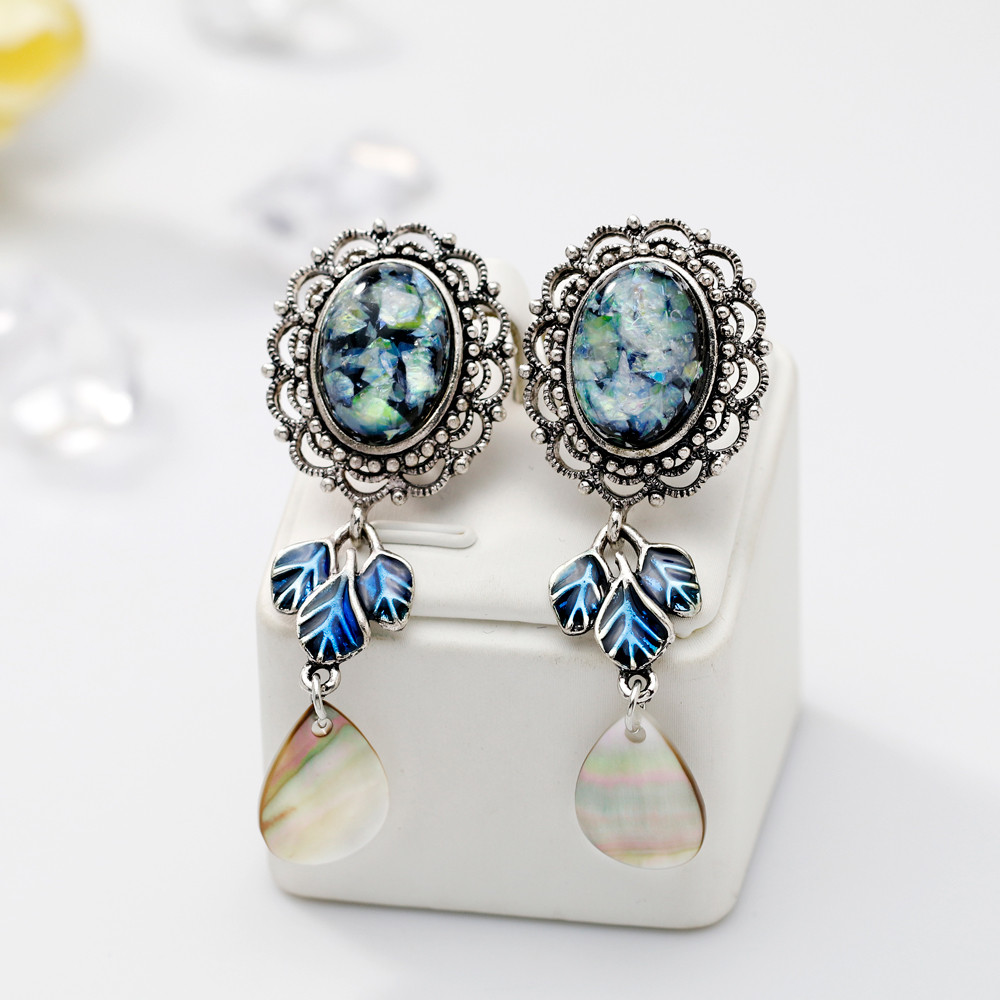 Retro Luxurious Zircon Teardrop earrings jewelery encrusted love heart earring oorbellen pendientes boucle doreille brinco A1