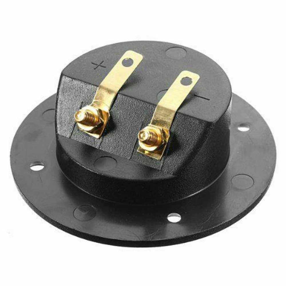 2 Pcs Subwoofer Speaker Box Terminal Round Cup Connector For 4mm Banana Plugs