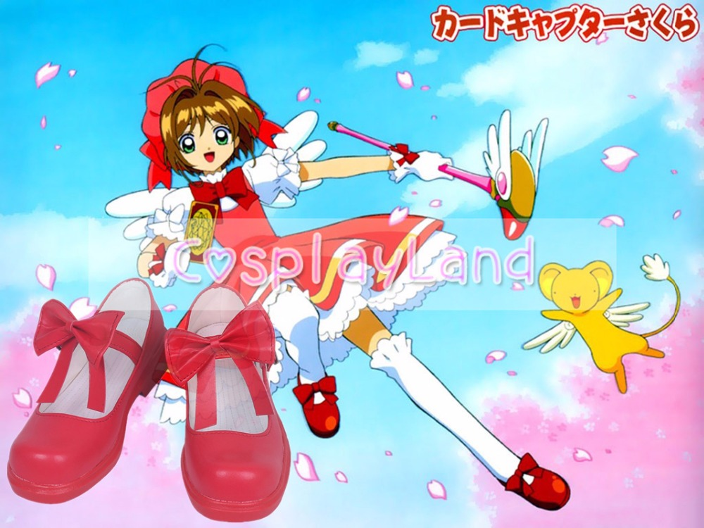 Anime Card Captor Sakura Clear Card Sakura Cosplay Shoes Party Cosplay Show Shoes Custom Made for Adult Women Shoes