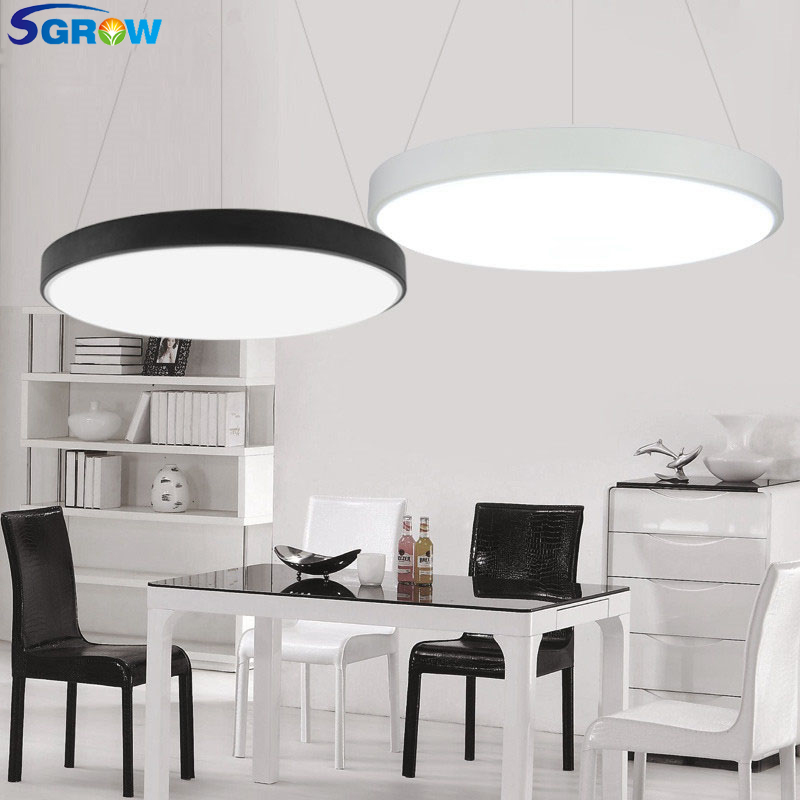 SGROW Nordic Acryl Ceiling Lamp Light Round Design Modern Indoor Lighting LED Lamps for Bedroom Dining Room Living Room Lampara modern ceiling lamp contemporary acryl creative lighting simple design white black luminaire ac for living room hall foyer light