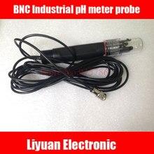 BNC Industrial pH meter probe / 0 ~ 14PH Industrial Online PH Electrode / 3/4 sensor electrode pH meter 5m / PH Controller Probe