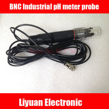 Sonda de medición de pH Industrial BNC, electrodo de PH Industrial en línea, sensor de 3/4 electrodo, medidor de pH de 5m/sonda de controlador de PH