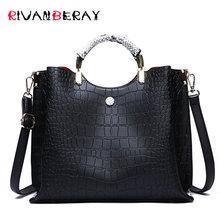 купить Designer Casual Tote Women Bag Big Capacity Ladies Handbag PU Leather Shoulder Messenger Bags Female Black Bags for Women Bolsa по цене 1294.16 рублей