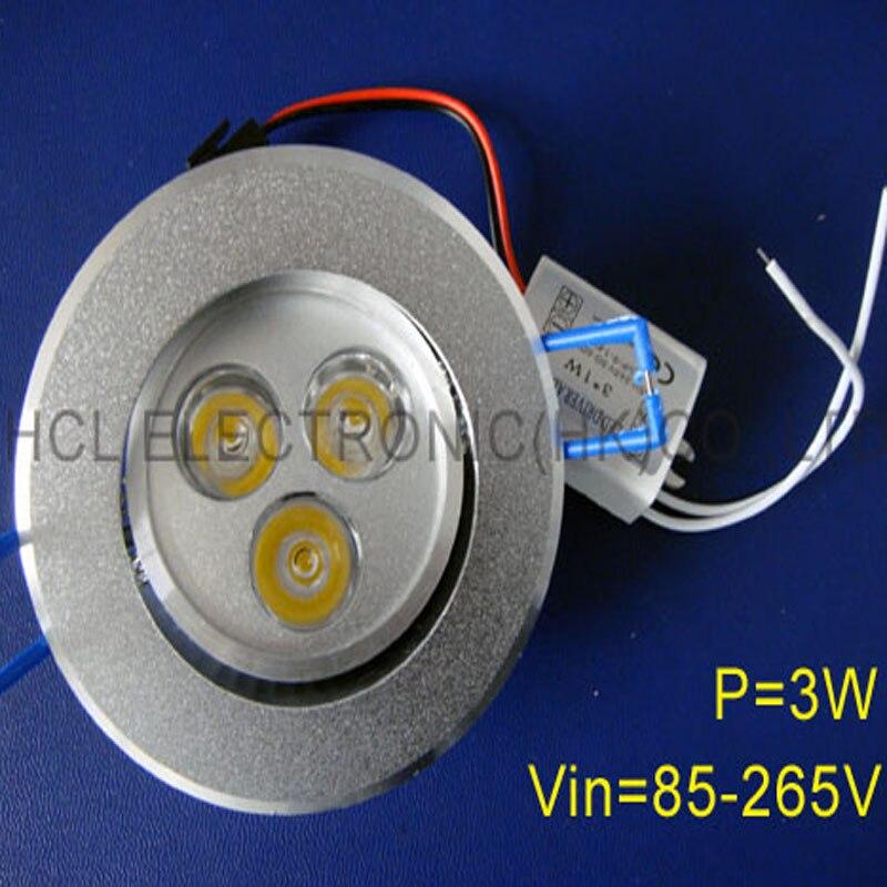 Hoge kwaliteit LED 3w plafondlamp 3w led downlight, high power 3w led - LED-Verlichting