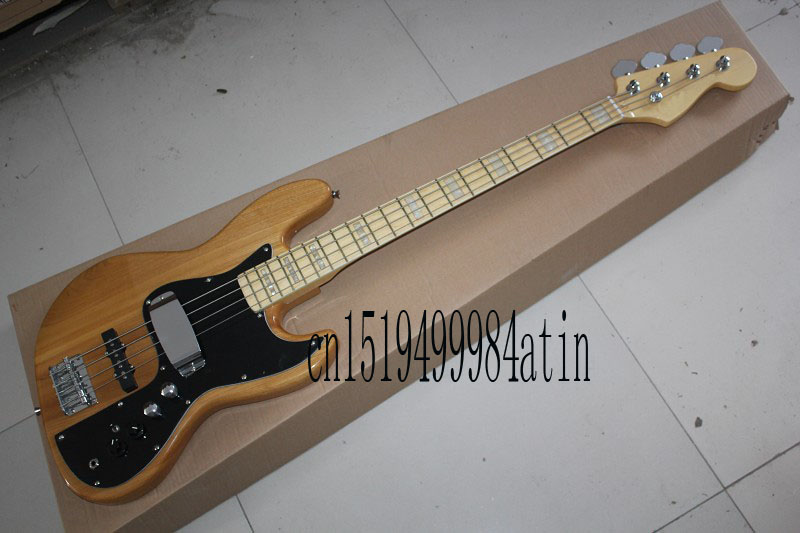 Free shipping jazz bass guitar 4 strings jazz Electric bass guitar with Vintage Active pickups in stock @32 new arrival es 175 model jazz electric bass guitar 4 string bass hollow body es175 in blue 130109