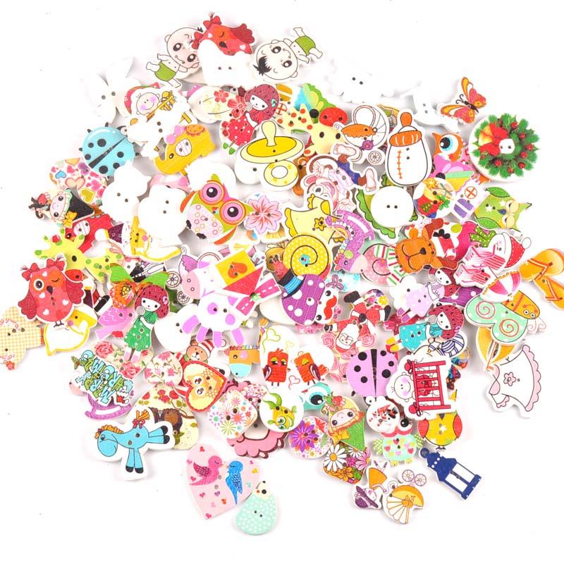 Деревянные декоративные пуговицы для пришивания одежды, скрапбукинга, рукоделия, домашний декор, 30 шт., 15-35 мм, MT1892 - Цвет: mt1892