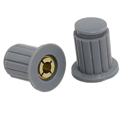 10 x Volume Control 5/32 4mm Split Shaft Dia Potentiometer Knobs Gray KYP16-16-4J audio volume control gray plastic potentiometer knobs 3 8 x 4