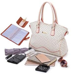 Image 5 - 2020 Nieuwe Vrouwen Lederen Handtassen Mode Schoudertas Vrouwelijke Portemonnee Hoge Kwaliteit 6 Stuk Set Designer Merk Bolsa feminina