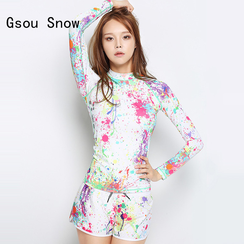 New Style Women Two Pieces Wetsuits Gsou <font><b>Snow</b></