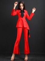 Высокое качество для женщин костюмы брюки для девочек костюм дамы офисные наборы ухода за кожей повседневное блейзер и