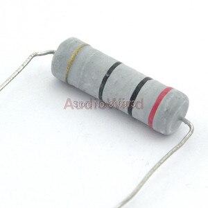 (5 pçs/lote) Resistores de Filme de Óxido De Metal, 5 w, 5 Watts, 10 OHM ~ 82 OHM Selecionável.