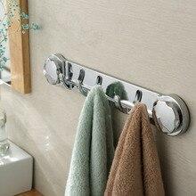 Многофункциональный крючок на присоске, настенный держатель для кухни, вешалка для полотенец, крючки для халатов, для ванной комнаты, хромированные крепкие аксессуары на присоске, съемные