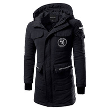 Men's winter new high quality slim hooded men TOP thickening in the long coat jacket tide