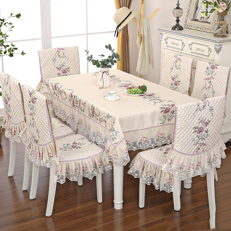 2/8/13 Pcs Dining Chair Covers Anti-dirty Cusion Polyester Cotton Decorate Waterproof Rectangle Tablecloths For Dining Room Set