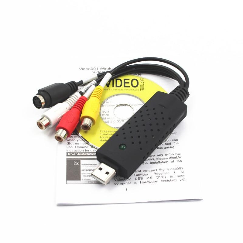 VHS a convertidor de archivos digitales Express USB 2,0 a Video Grabber Audio AV TV Card SL @ 88