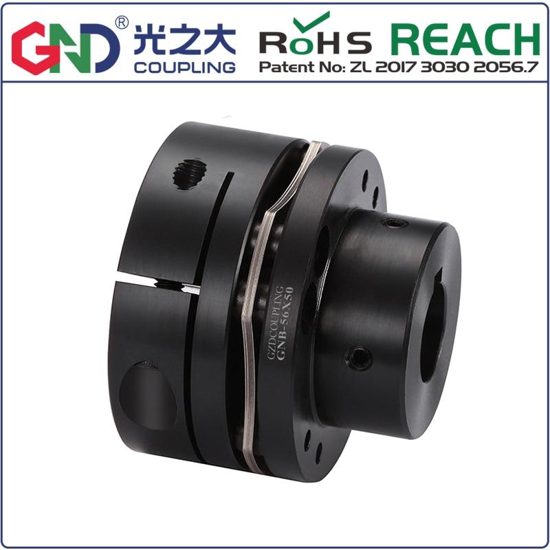GNT 45 # стальная ступенчатая Одиночная мембранная шпоночная серия 45 # сталь муфта сцепения валов D26mm, L26mm