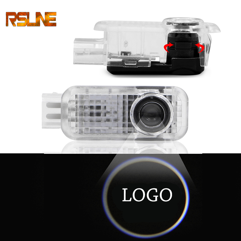 2pcs Car Logo Door light LED Projector for <font><b>Audi</b></font> A4 B6 B8 B7 <font><b>A6</b></font> C5 C6 C7 A3 A5 Q3 Q5 Q7 TT Courtesy Ghost Shadow Welcome Light image