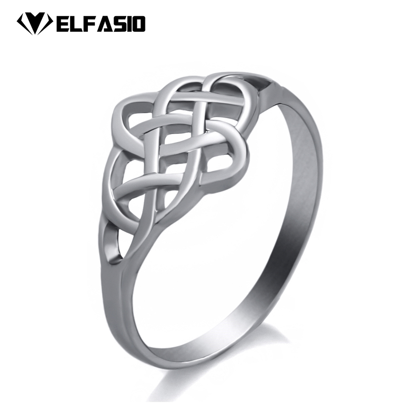 Womens ring Irish Pattern Classic Celtic Knot stainless steel Fashion Jewelry