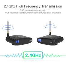 цена на REDAMIGO 2.4GH 150M Wireless AV Transmitter & Receiver TV Broadcasting Audio Video sender TV Signal receiver  3 RCA RTE330+