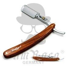 Solingen Steel Men Shaving Classic Straight Razor Folding Knife Manual Shaver Barber Razors Scheermes Wood Handle Kapper