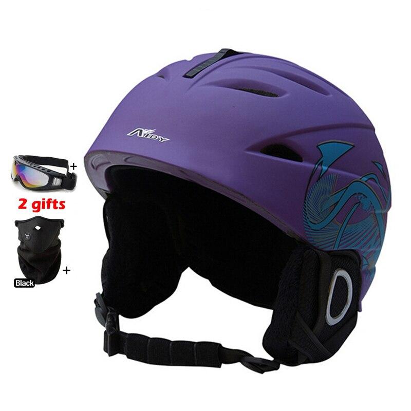 ФОТО Professional Skiing Helmet CE Certification Ski Helmet In-mold Skating/Snowboard/Skateboard Helmet Size 55-61 CM