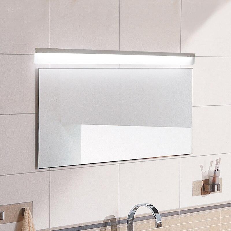 8W-24W LED Mirror Light 0.4M~1.2M AC90-260V Modern Cosmetic Acrylic Wall lamp Bathroom Lighting Waterproof Free Shipping modern 8w 720lm 5000k 8 led up