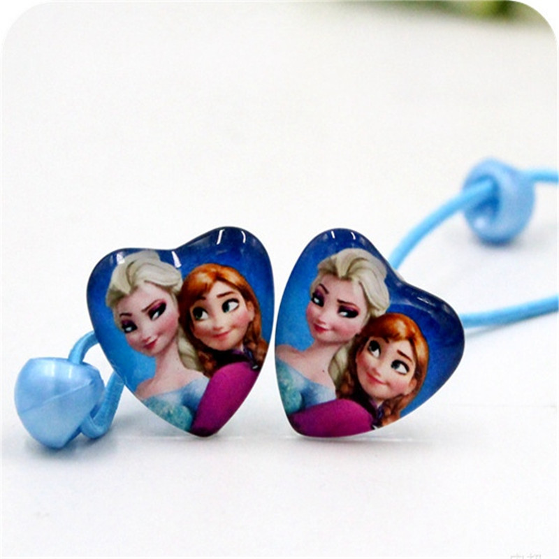 Toys & Hobbies Dolls Accessories Fashion Style 2pcs/lot Frozen Childrens Doll Accessories Hair Cartoon Snow Princess Minnie Sophia Side Clip Hair Rope Hair Ring Rich In Poetic And Pictorial Splendor
