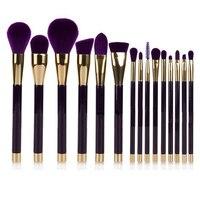 Professional 15 Pcs Makeup Brushes Set Eyeshadow Brushes Natural Blending Cosmetic Professional Makeup Brushes Sets High
