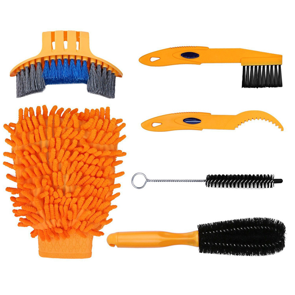 Reasonable New A Set 6pcs Bike Cleaning Tool Package Cycling Tire Brush Chain Wash Brake Disc Cleaner Tool Kits Professional Multi Tool 15 Catalogues Will Be Sent Upon Request
