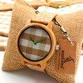 Bobobird A28 Novos chegada Rodada Do Vintage De Madeira De Bambu Das Senhoras Relógios de Quartzo Com Tecido de Discagem Mulheres Relógios Top Marca de Luxo Relógio