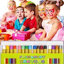 Children's face pastel crayon pen  Kit Paint Clown Party Color Face boys 5 Devil old Oil Body girls Crayons above Ghost gift hot цена