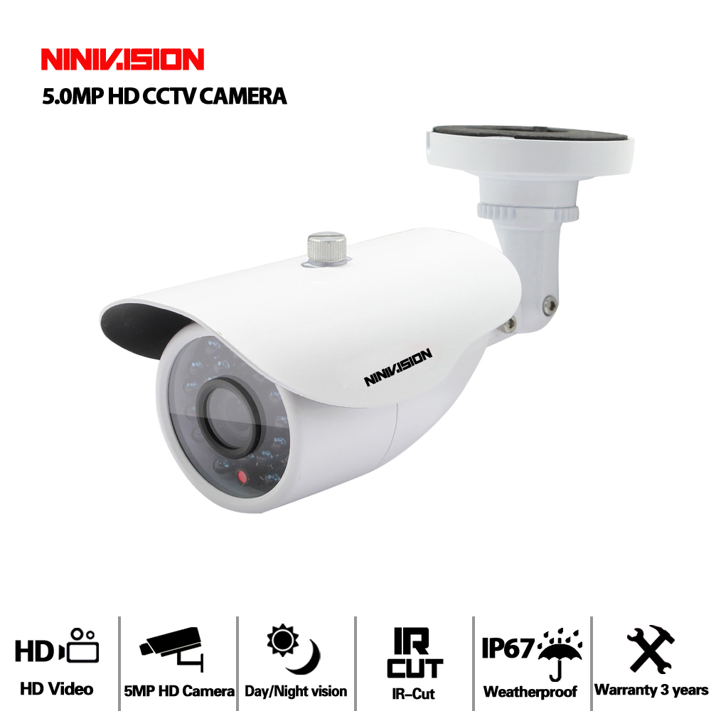 HD Sony Sensor 5MP AHD Camera 5.0MP AHD-5MP Video Security Bullet CCTV Camera indoor Outdoor Waterproof IP66 IRCUT Night Vision