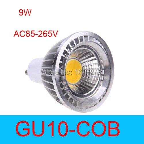 High Luminous Spotlight LED lamp light 9W GU10 par 20 COB LED Spot Light Bulbs Lamp Warm white/Cool white Free shipping led track light 30w led spotlight gold track spot light cool white warm white
