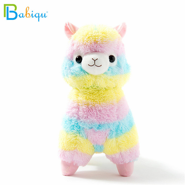 1pc 20cm Rainbow Alpaca Vicugna Pacos Plush Toys for Children Japanese Soft Plush Alpacasso Baby Stuffed Animals Alpaca Gifts 1