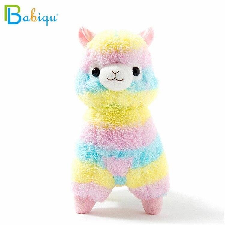1pc 20cm Rainbow Alpaca Vicugna Pacos Plush Toys for Children Japanese Soft Plush Alpacasso Baby Stuffed Animals Alpaca Gifts стоимость
