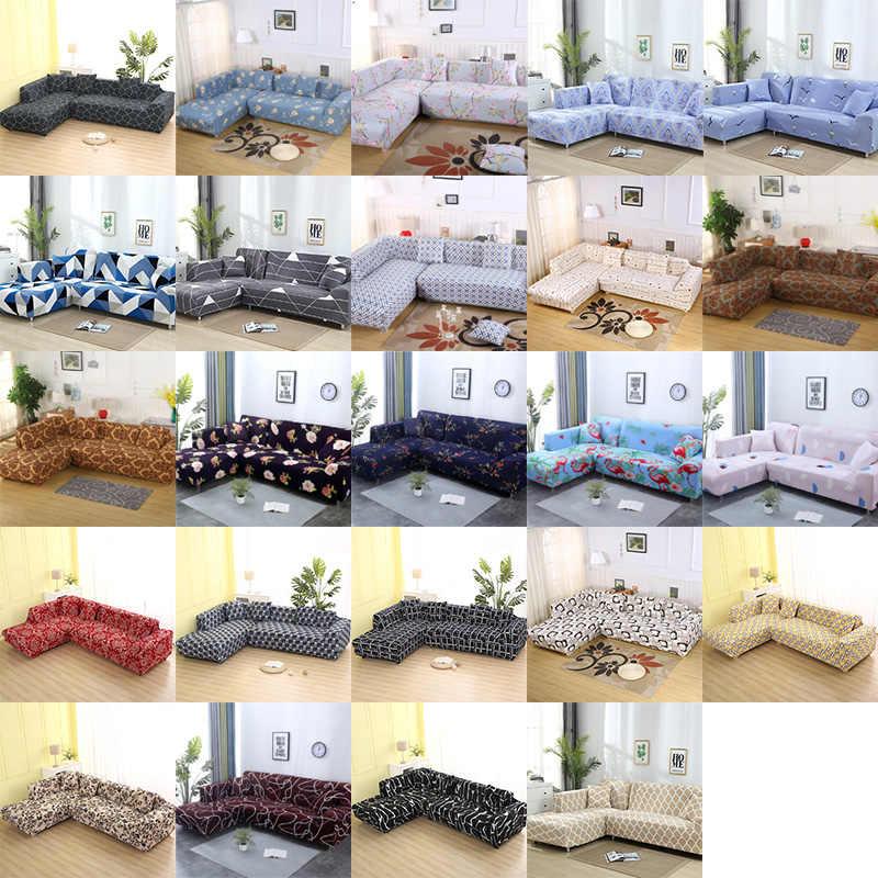 2 шт. Чехлы для мангала l-образный диван гостиная угловой секционные покрывало для дивана стрейч эластичный спандекс домашний текстиль