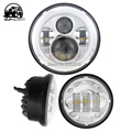 chrome day maker for Harley 1x 7'' 45w led headlight with angel eye day time running turn signal + 2x 4.5'' 30W led fog lamp