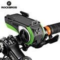 ROCKBROS Wasserdichte Fahrrad Telefon Halter Bluetooth Audio MP3 Player Lautsprecher 4400 mAh Power Bank Fahrrad Ring Glocke Fahrrad Licht