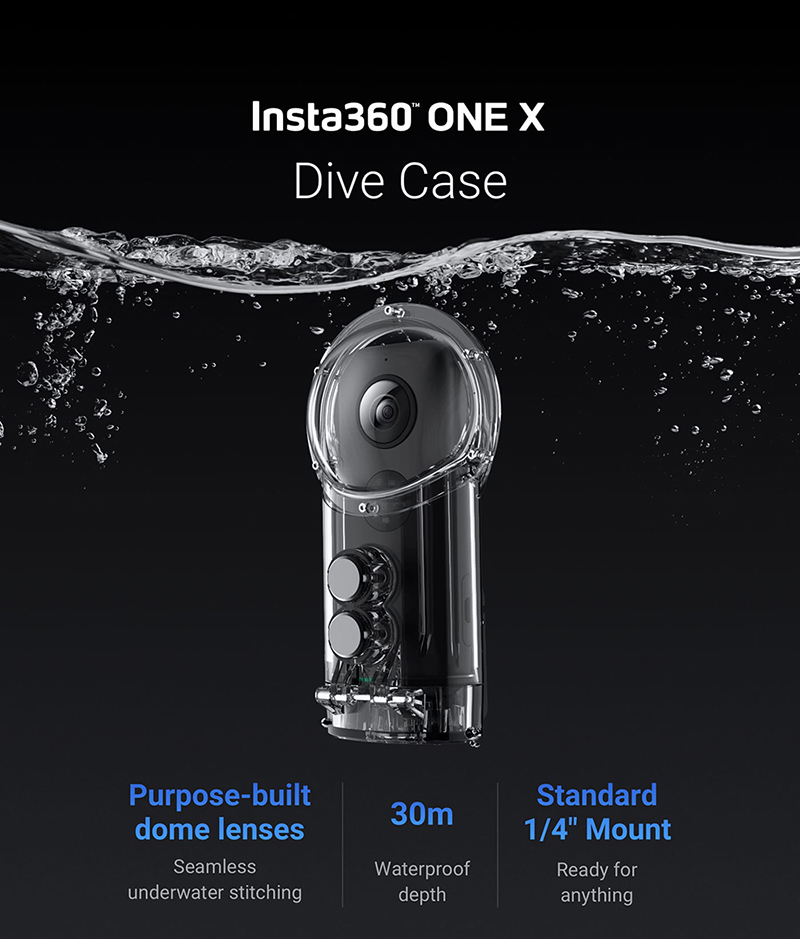 Insta360 Dive Case for Insta 360 ONE X Waterproof Case or Dive Case Diving 30M Depth action Camera AccessoriesInsta360 Dive Case for Insta 360 ONE X Waterproof Case or Dive Case Diving 30M Depth action Camera Accessories