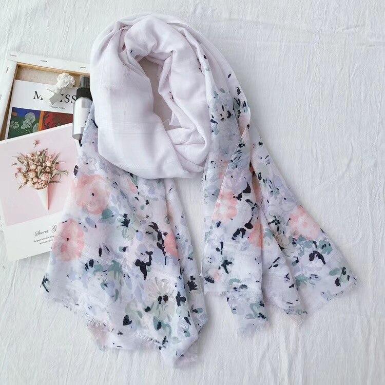 Floral Tassels floral hijab   scarf   printe shawls muslim   scarves   viscose   wraps   turbans Islamic headband   scarves   10pcs/lot