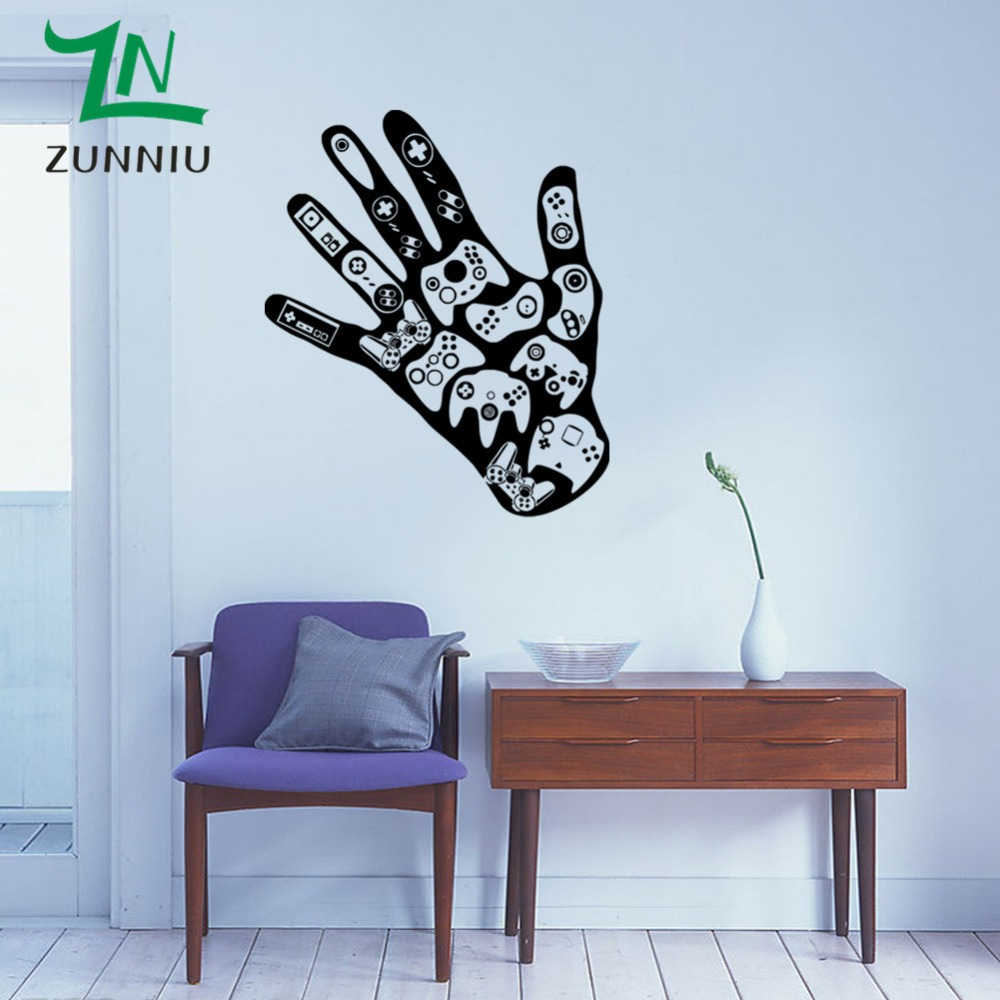 Delicieux J41 Video Game Wall Sticker Gamer Joystick Wall Decal Art For Home Decor  Removable Vinyl Wall Mural Paper Amer Wall Decal Video  In Wall Stickers  From Home ...