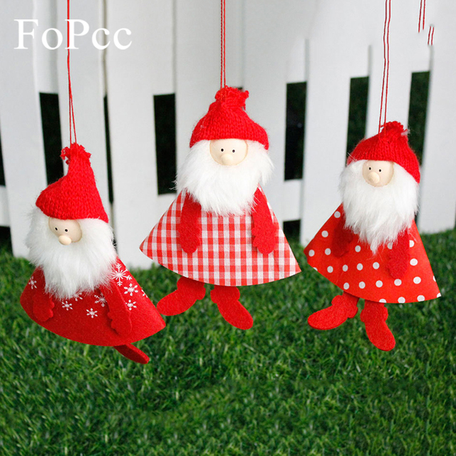 3pcs new cute santa claus face christmas tree hanging ornaments crafts for home decor supplie christmas